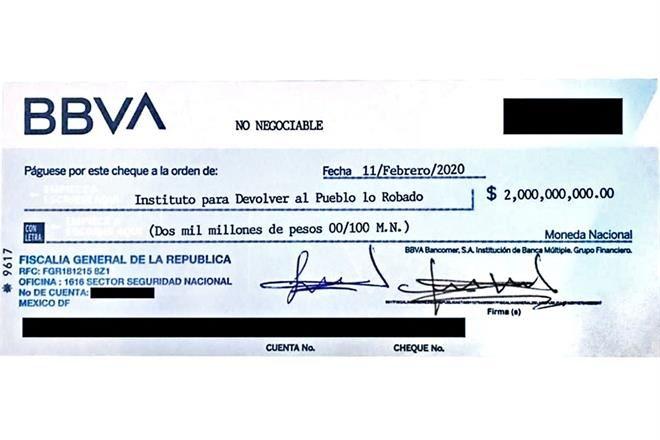 'Rebotan' cheque para pagar la rifa