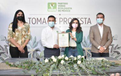 Verónica Fragoso asume la dirigencia del Verde