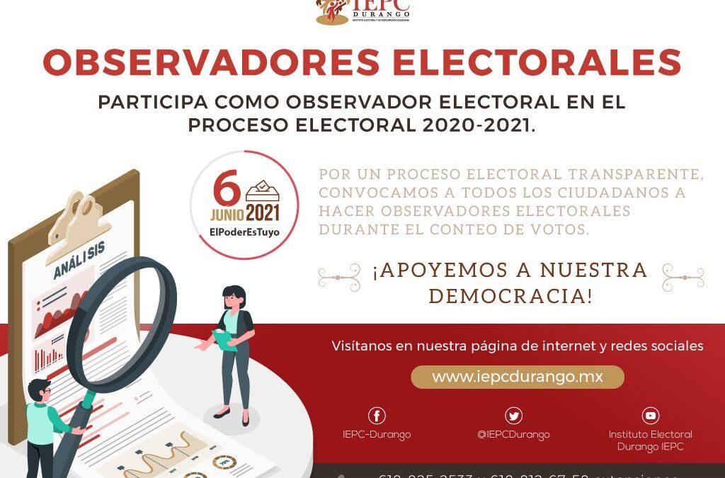 Convoca IEPC  a inscribirse como Observadores Electorales