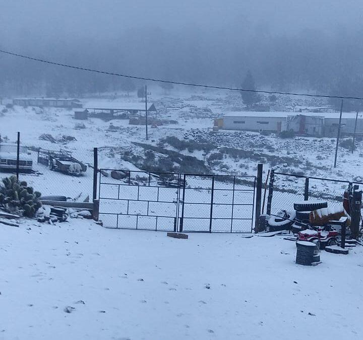 Registra Durango las primeras nevadas